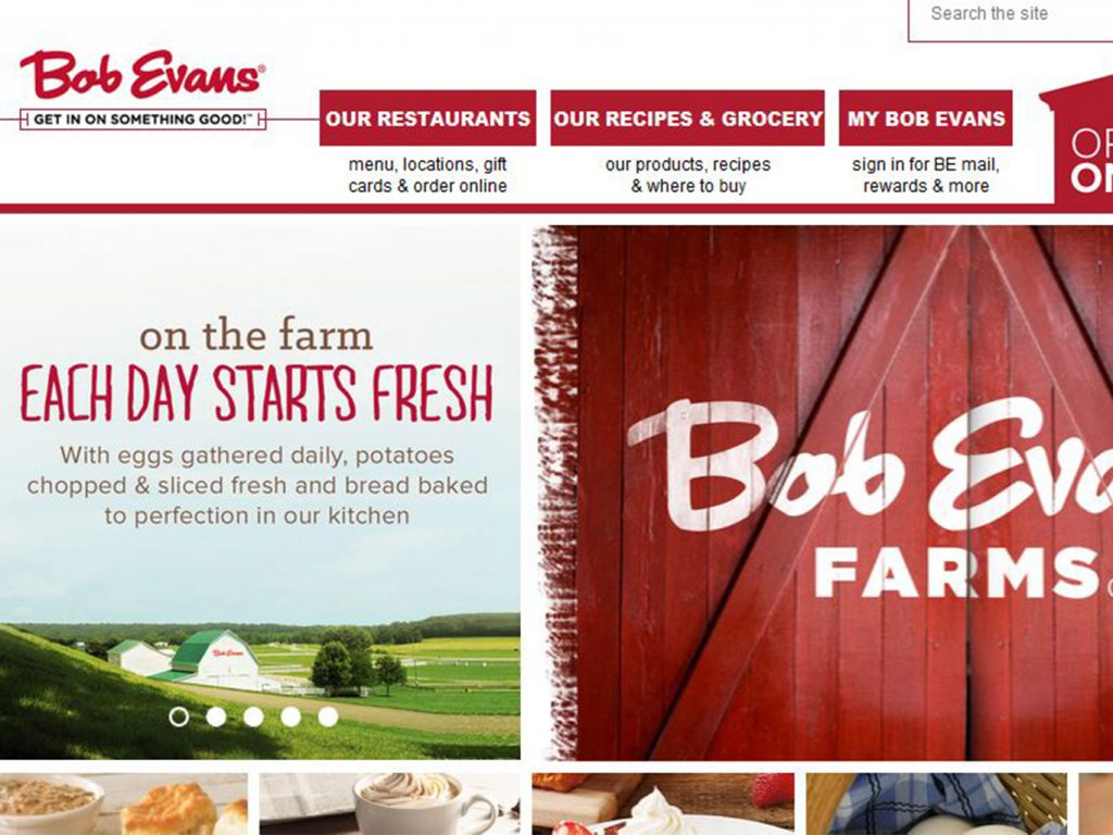 Bob Evans Website Redesign